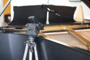 Digital Audio Recorder piano setup